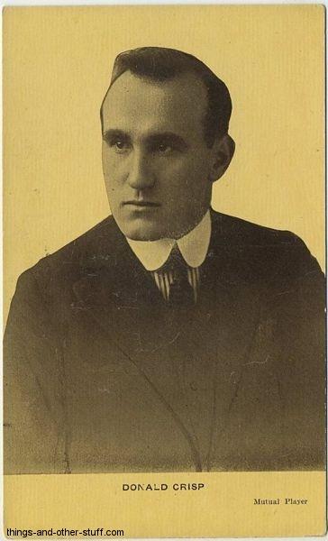 Donald Crisp Kraus Postcard