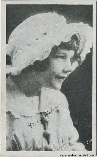 Baby Marie Osborne 1917 Kromo Gravure Trading Card
