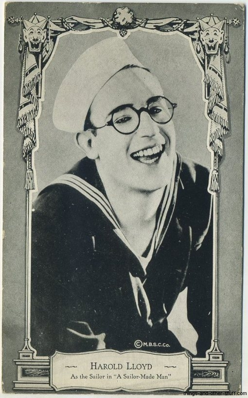 Harold Lloyd MBSC Postcard