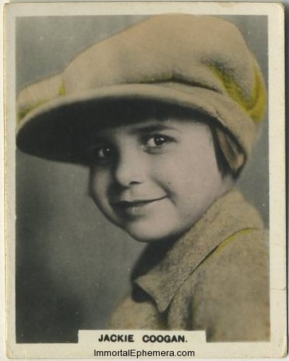 Jackie Coogan circa 1927 African Tobacco Cinema Artistes Hand Couloured Real Photo Tobacco Card