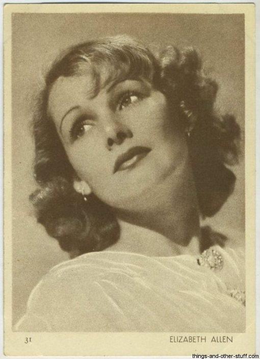 Elizabeth Allan 1930s Aguila Chocolate Premium
