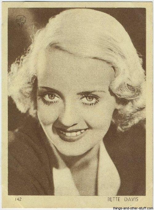 Bette Davis 1930s Aguila Chocolate Premium