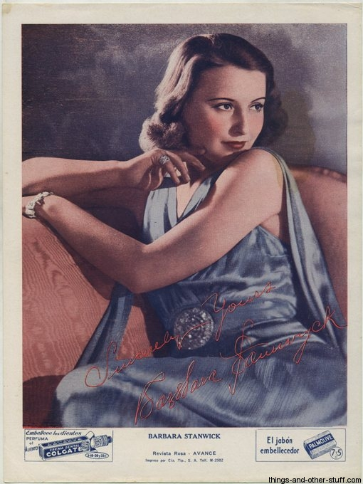 Barbara Stanwyck Colgate Premium