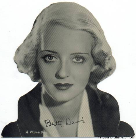 1930s Bette Davis Quaker Standee