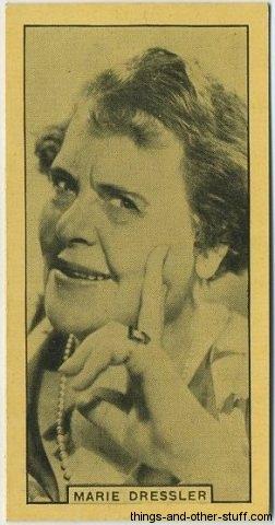 Marie Dressler circa 1932 BAT Cinema Artistes Tobacco Card