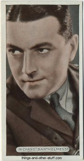 Richard Barthelmess 1934 Ardath Famous Film Stars Tobacco Card