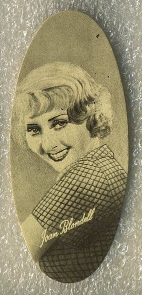 Joan Blondell 1934 Carreras Film Stars Tobacco Card