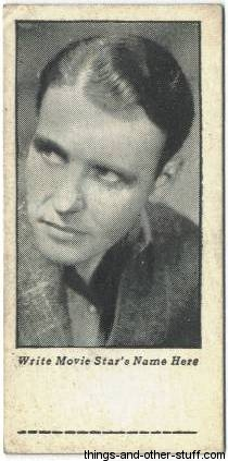 Ralph Bellamy 1934 Cracker Jack Mystery Club trading card