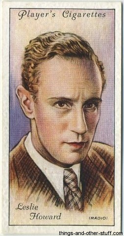Leslie Howard 1934 Players Film Stars Tobacco Card