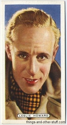 Leslie Howard 1935 Ardath Film, Stage and Radio Stars Tobacco Card