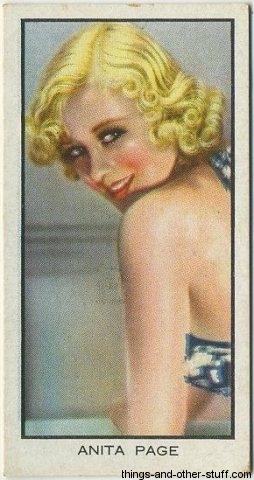 Anita Page tobacco card