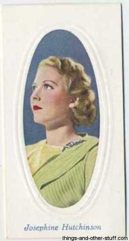 Josephine Hutchinson 1936 Tobacco Card