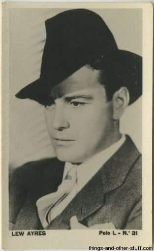 Lew Ayres 1938 Chilena Polo L Tobacco Card