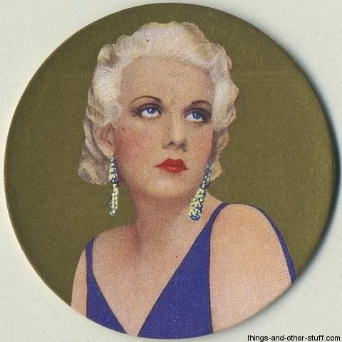 Jean Harlow 1939 Rothmans Tobacco Card