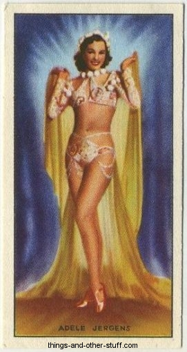 Adele Jergens 1940 Godfrey Phillips Tobacco Card