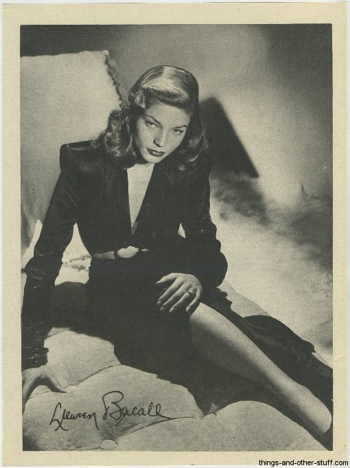Lauren Bacall 1946 Motion Picture Premium