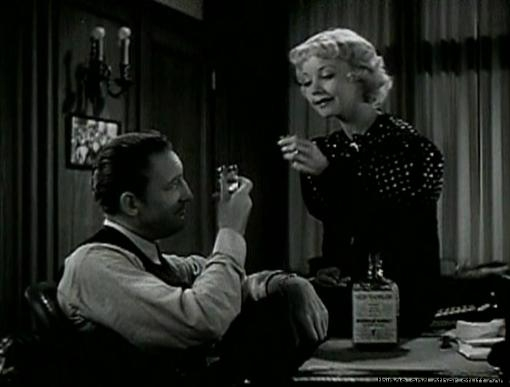 Alice White and Warren William toast in Employees Entrance