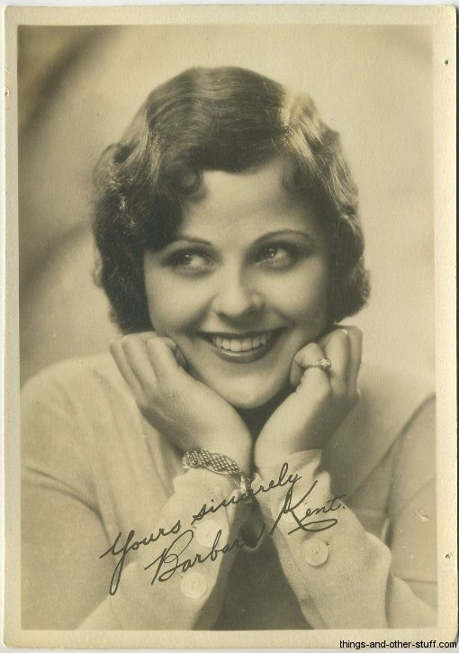 Barbara Kent 1920s 5x7 Fan Photo