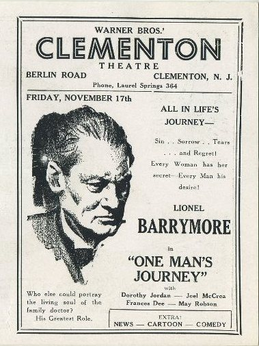 Lionel Barrymore in One Man