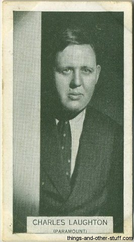 Charles Laughton 1934 Tobacco Card