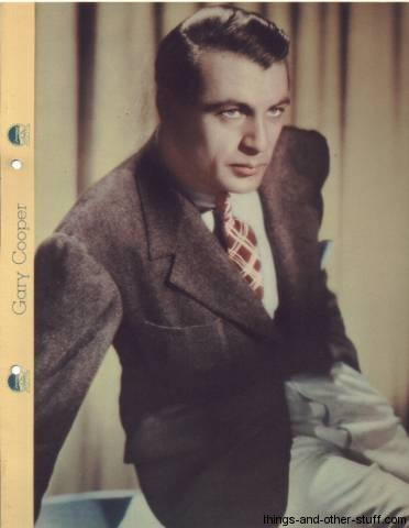 Gary Cooper 1935 Dixie Premium