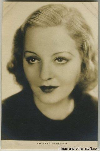 Tallulah Bankhead Postcard