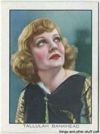 Tallulah Bankhead 1933 Tobacco Card