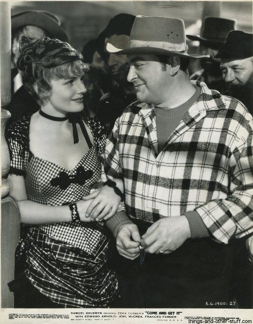 Edward Arnold and Frances Farmer in Come and Get It