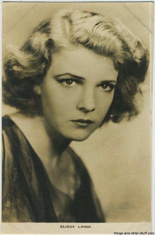 Elissa Landi 1930s Film Weekly Postcard