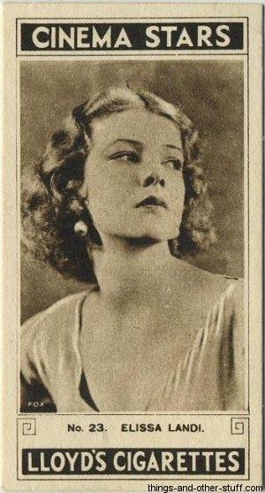Elissa Landi 1932 Lloyds Tobacco Card
