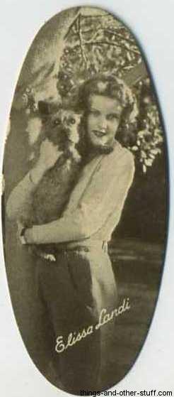 Elissa Landi 1934 Carreras Film Stars Tobacco Card