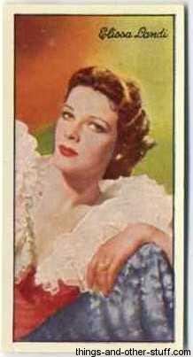 Elissa Landi 1935 Carreras Film Stars Tobacco Card