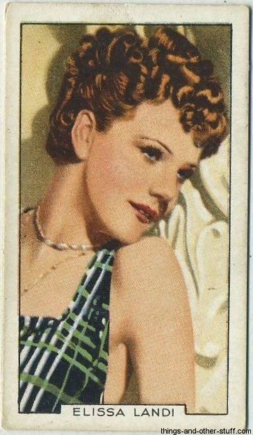 Elissa Landi 1935 Gallaher Portraits of Famous Stars Tobacco Card