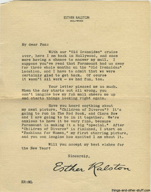 esther-ralston-letter