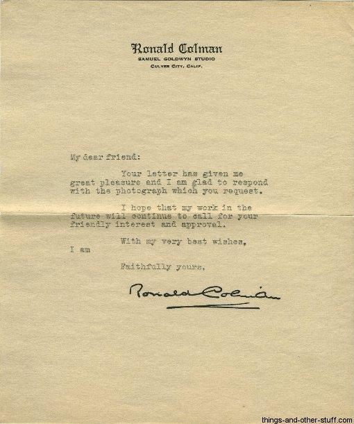 ronald-colman-letter