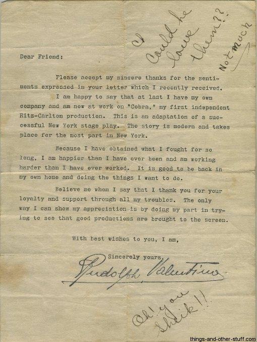 rudolph-valentino-letter