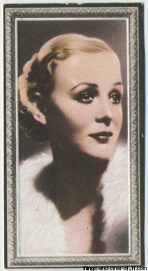 1936 Godfrey Phillips Stars of the Screen Tobacco Card