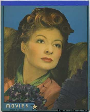 1940's Writing Tablet with Greer Garson cover