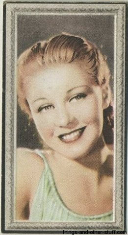 Ginger Rogers 1936 Godfrey Phillips Stars of the Screen Tobacco Card