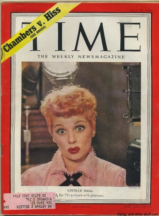 Lucille Ball Time Magazine May 26 1952