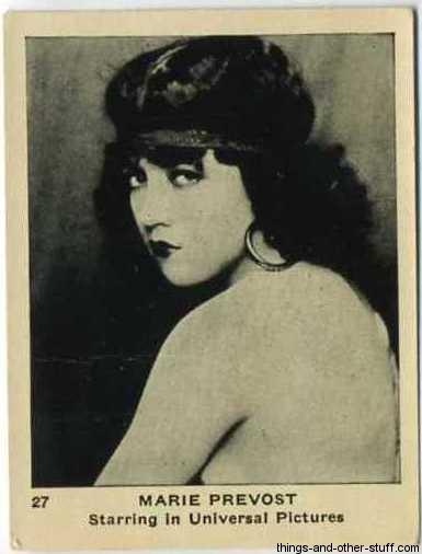Marie Prevost Tobacco Card
