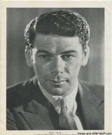 Paul Muni 1936 R95 8x10 linen textured photo