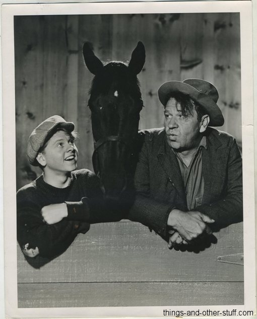 Wallace Beery and Mickey Rooney in Stablemates on 1938 8x10 Press Photo