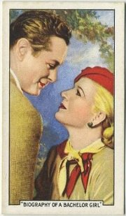 Robert Montgomery and Ann Harding Biography of a Bachelor Girl Tobacco Card