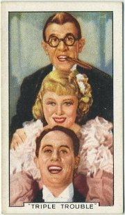 Wheeler and Woolsey and Mary Carlisle Kentucky Kernals Tobacco Card