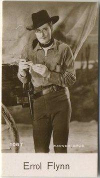 Errol Flynn 1940 De Beuakelaer Trading Card