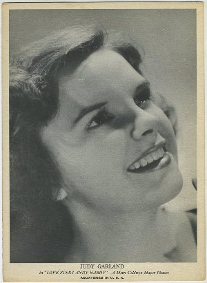 Judy Garland 1930s R96 Aquatoned in USA Trading Card
