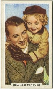 Gary Cooper and Shirley Temple Now and Forever Tobacco Card