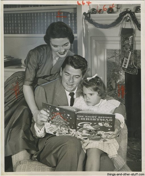 December 12 1955 Ronald Reagan and Family