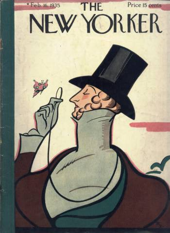 Eustace Tilley annual New Yorker cover, February 16 1935